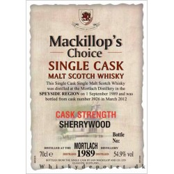 Mortlach Mackillop's Choice...