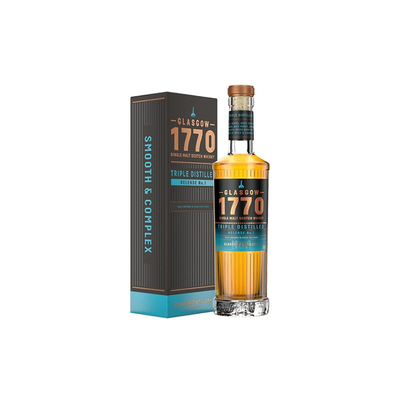 The Glasgow Triple Distilled 1770-Single Malt Scotch Whisky 46% 50cl.