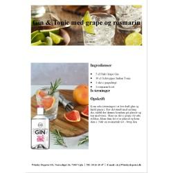 Opskrift på Gin & Tonic med grape og rosmarin