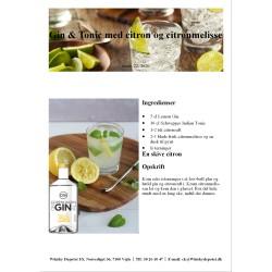 Opskrift på Gin & Tonic med citron og citronmelisse