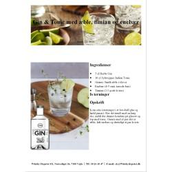 Opskrift på Gin & Tonic med æble, timian og enebær