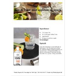 Opskrift på Gin & Tonic med appelsin og agurk