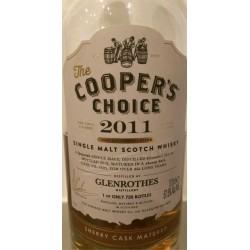 Glenrothes 2011 Coopers Choice 57,5% 6 år #6105 Sherry bombe