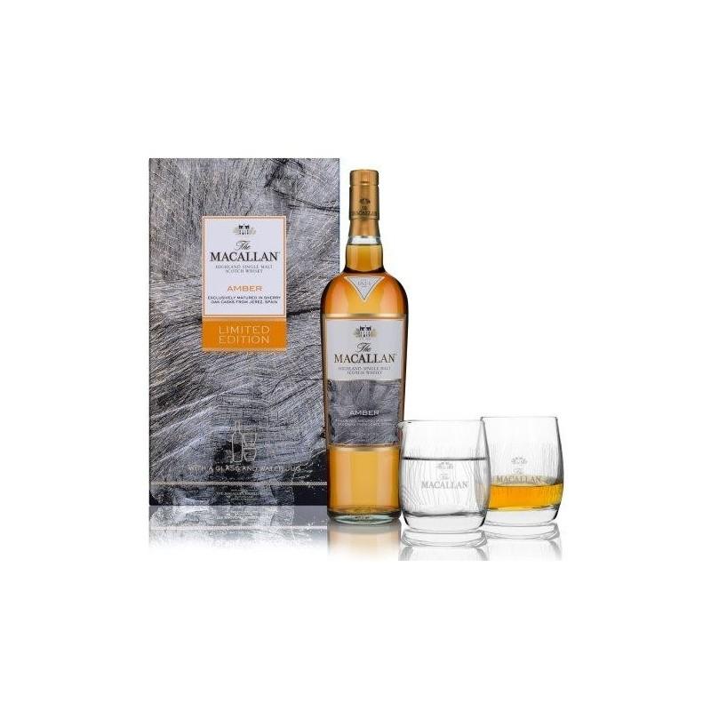 Macallan Amber Highland Single Malt 40% m/2 glas