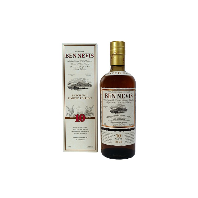 En fantatastisk Ben Nevis 10 årig 1ST BATCH Highland Single Malt Whisky