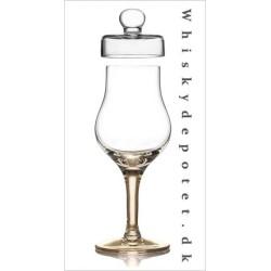 Whisky glas, ravfarvet