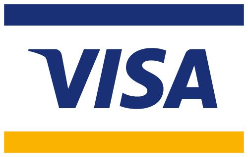 Vi modtager Visakort